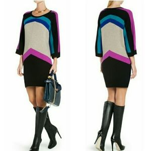 BCBG MaxAzria FAIZA Color-Block Sweater Dress XS